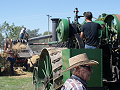 steam powered threshing